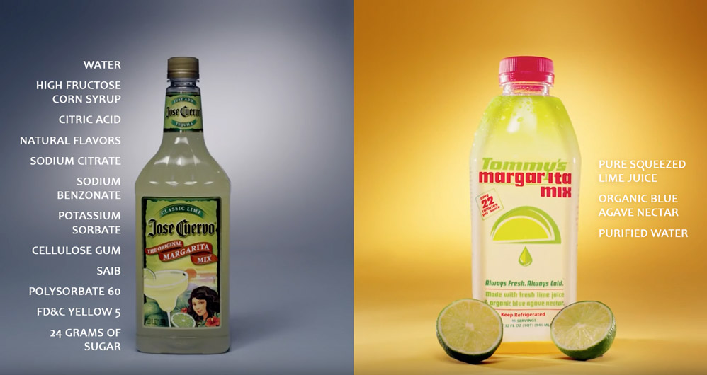 Tommy Margarita Mix's Ingredients